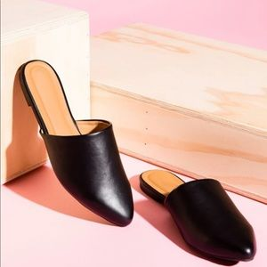 ❣️best seller ❣️BLACK PU FLAT MULES - SHOES